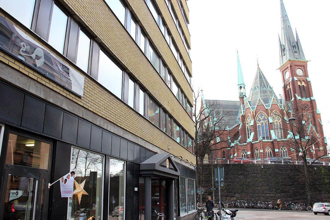 Oscar Fredriks kyrka och Prinsgatan 12